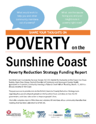 Poverty Reduction Strategy Report - Sunshine Coast